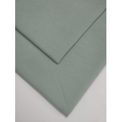 Ткань футер 2 нитка с лайкрой Холодная мята