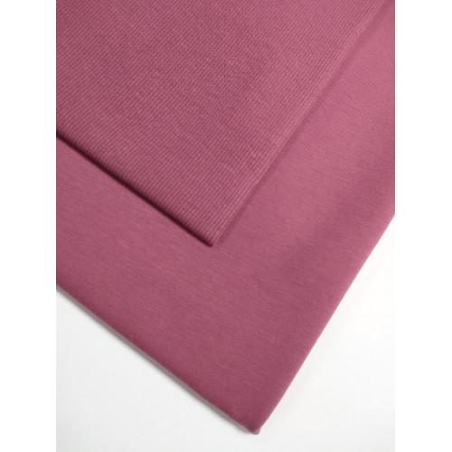 Ткань футер 2 нитка с лайкрой Розовое вино