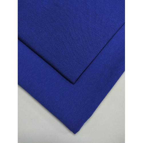 Ткань футер 2 нитка с лайкрой Василек (Фс)
