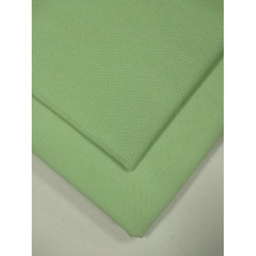 Ткань футер 2 нитка с лайкрой Снежная мята