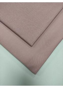 Ткань футер 2 нитка с лайкрой Розовая дымка