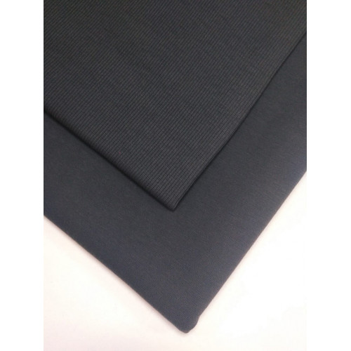 Ткань футер 2 нитка с лайкрой Темно-серый (Фс)