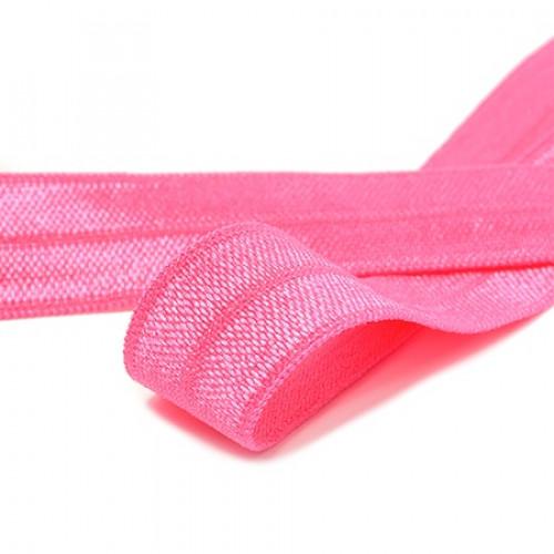 Бейка эластичная (блестящая) Ярко-розовая (144)