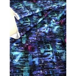 Ткань кулирка с лайкрой Геймеры матрица