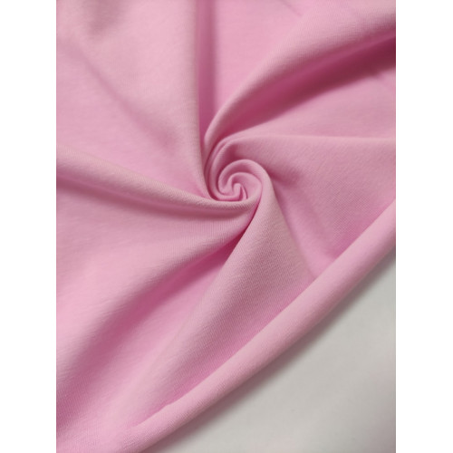 Ткань кулирка с лайкрой Розовая