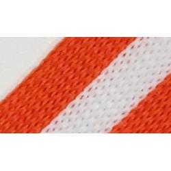 084 Лампас эластичный Белый/оранжевый 20 мм