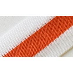 094 Лампас эластичный Белый/оранжевый 25 мм