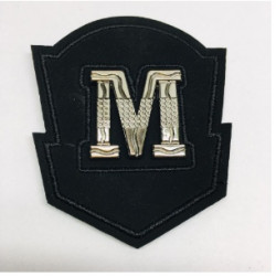 Нашивка М черный никель 6,5*5,5 см (1946)