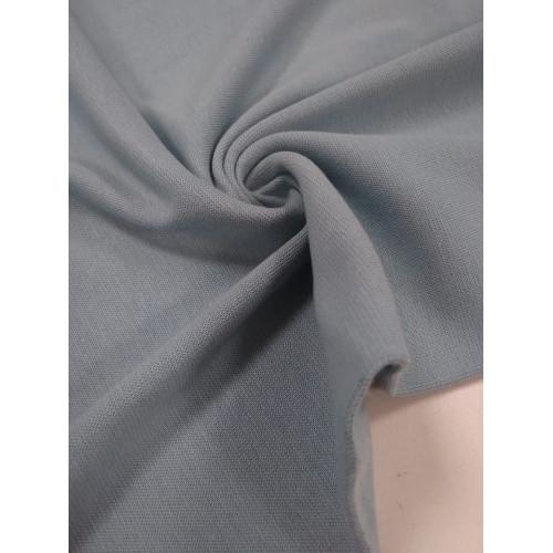 Ткань рибана с лайкрой Голубой туман (Имр)
