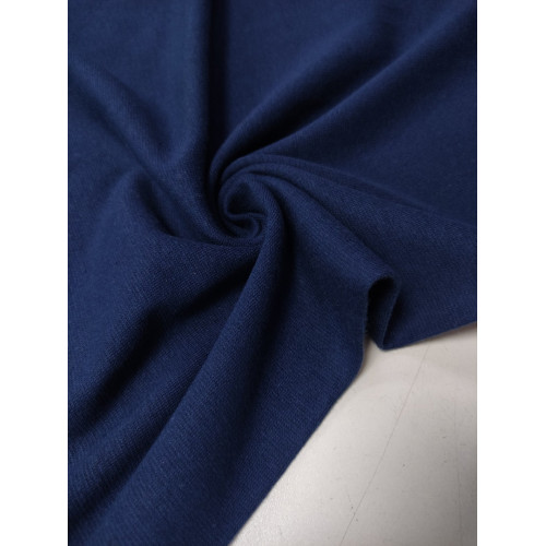 Ткань рибана с лайкрой Темно-синий (имр)