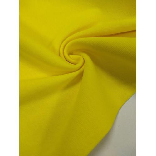 Ткань рибана с лайкрой Лимон (Дн)