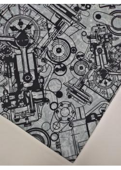 Ткань кулирка с лайкрой Механика