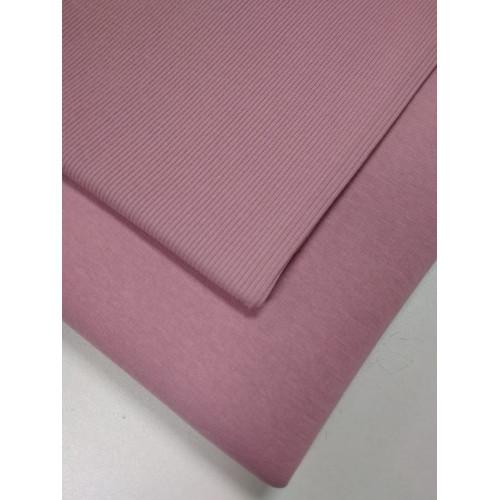 Футер 3 нитка начес Пудра розовая