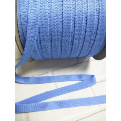 Шнур полиэстер плоский Голубой 14мм (001)
