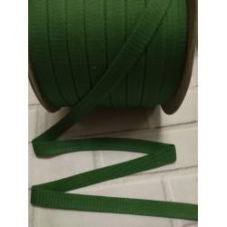 Шнур полиэстер плоский Зеленый 14мм (009)