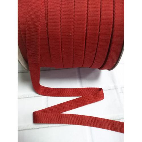 Шнур полиэстер плоский Красный 14 мм (010)