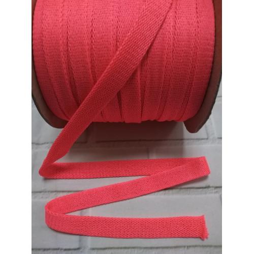 Шнур полиэстер плоский Розовый неон 14 мм (390)