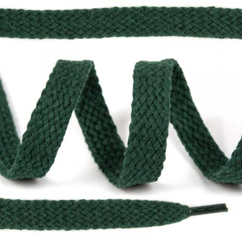 Шнурок х/б плоский Зеленый темный 15 мм 150 см