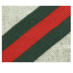 004 Лампас эластичный Зеленый/красный/зеленый 25 мм