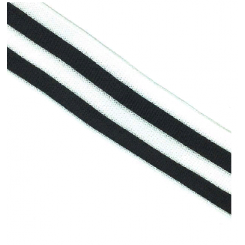Лампас Черные/белые полосы 40мм