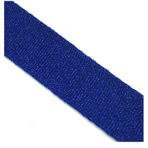 Лампас Синий с люрексом - 30 мм