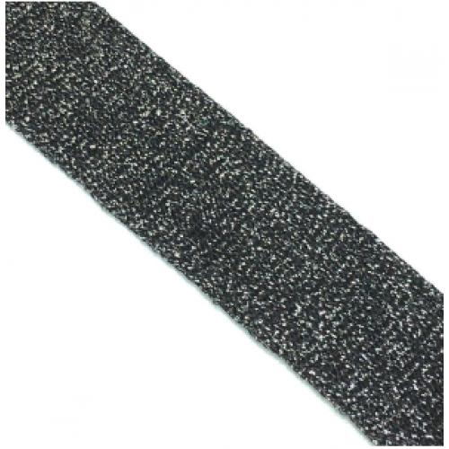 Лампас Черный с люрексом - 30 мм