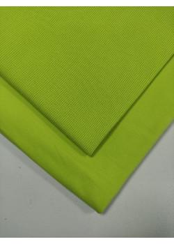 Ткань футер 2 нитка с лайкрой Салат неон (компакт)