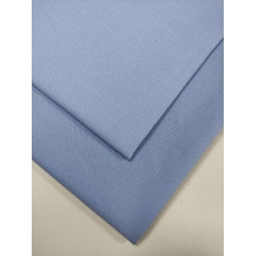 Ткань футер 2 нитка с лайкрой Небесно-голубой (компакт)