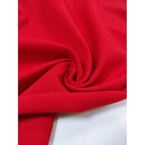 Ткань кулирка с лайкрой Красный (компакт)