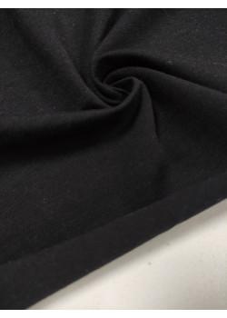 Ткань кулирка с лайкрой Черный (компакт)