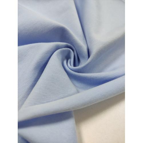 Ткань кулирка с лайкрой Небесно-голубой (компакт)