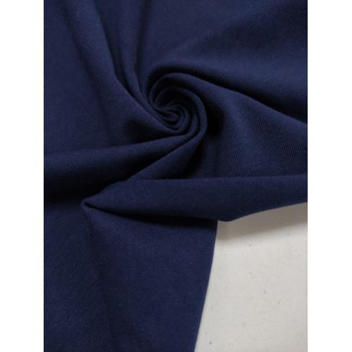 Ткань кулирка с лайкрой Темно-синий (компакт)