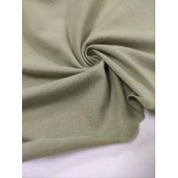 Ткань кулирка с лайкрой Серо-зеленый Велюр эффект