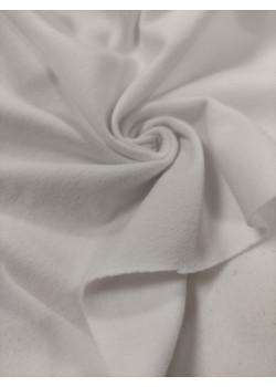 Ткань кулирка с лайкрой Белая Велюр эффект