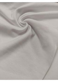 Ткань рибана с лайкрой Белая Велюр эффект
